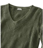 Women's L.L.Bean Shaker-Stitch Sweater, V-Neck Pullover