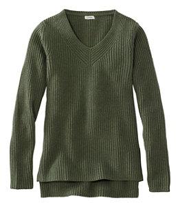 Women's L.L.Bean Shaker-Stitch Sweater, V-Neck Pullover