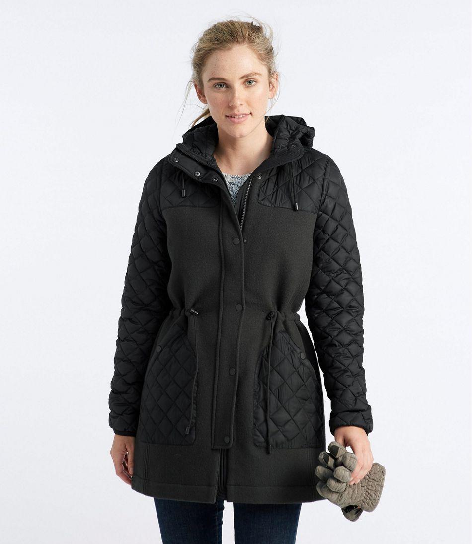 39971187946 Hybrid Wool Coat, Misses