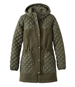 Hybrid Wool Coat, Misses