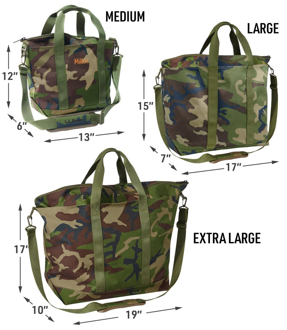 zip hunter s tote bag with strap camo
