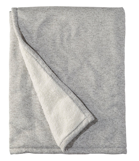 Sweater Fleece Throw, Frost Gray Heather, large image number 0