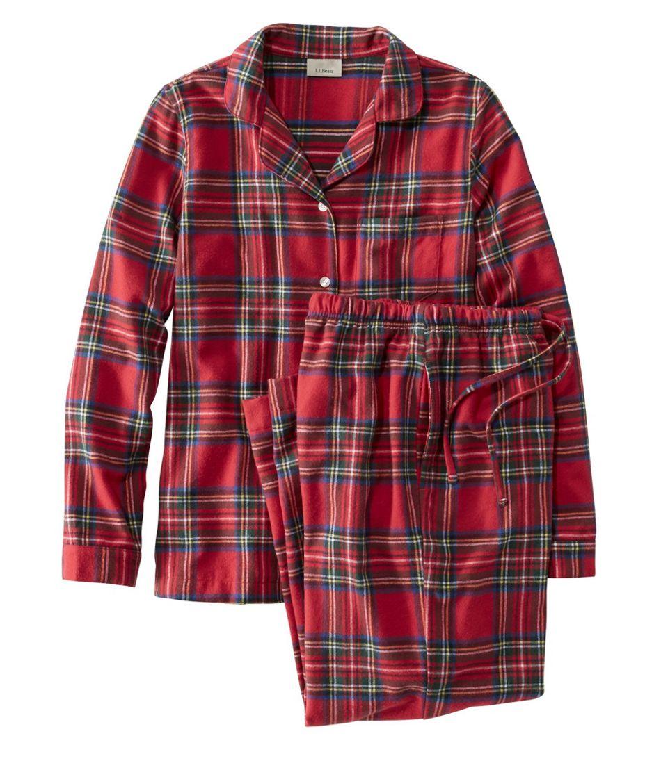 Women's Scotch Plaid Flannel Pajamas