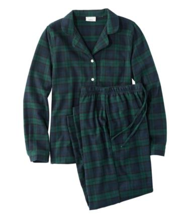 Scotch Plaid Flannel Pajamas, Plaid