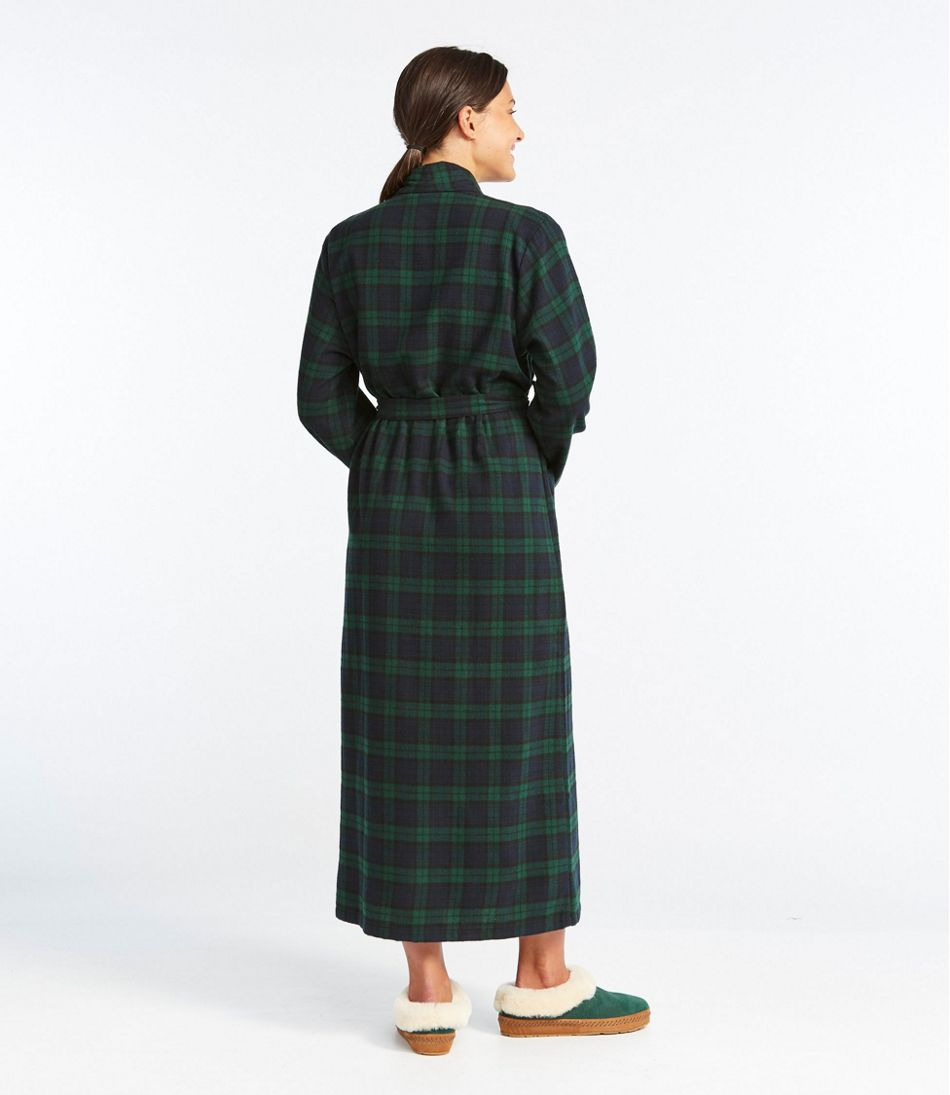 Women's Scotch Plaid Flannel Robe