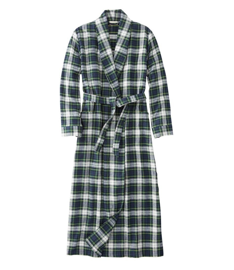 Women\'s Scotch Plaid Flannel Robe