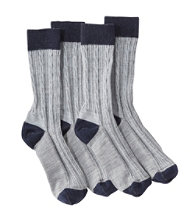 L.L.Bean Classic Wool Socks, Women's 2-Pack