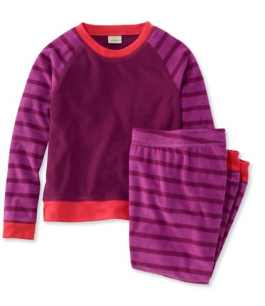 Kids' Cozy Fleece PJs, Stripe