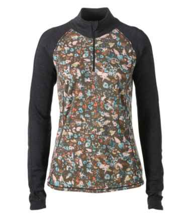 Cresta Wool Midweight Base Layer T-Zip, Print