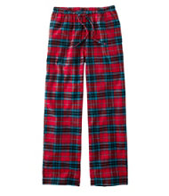 Women's Scotch Plaid Flannel Sleep Pants, Plaid
