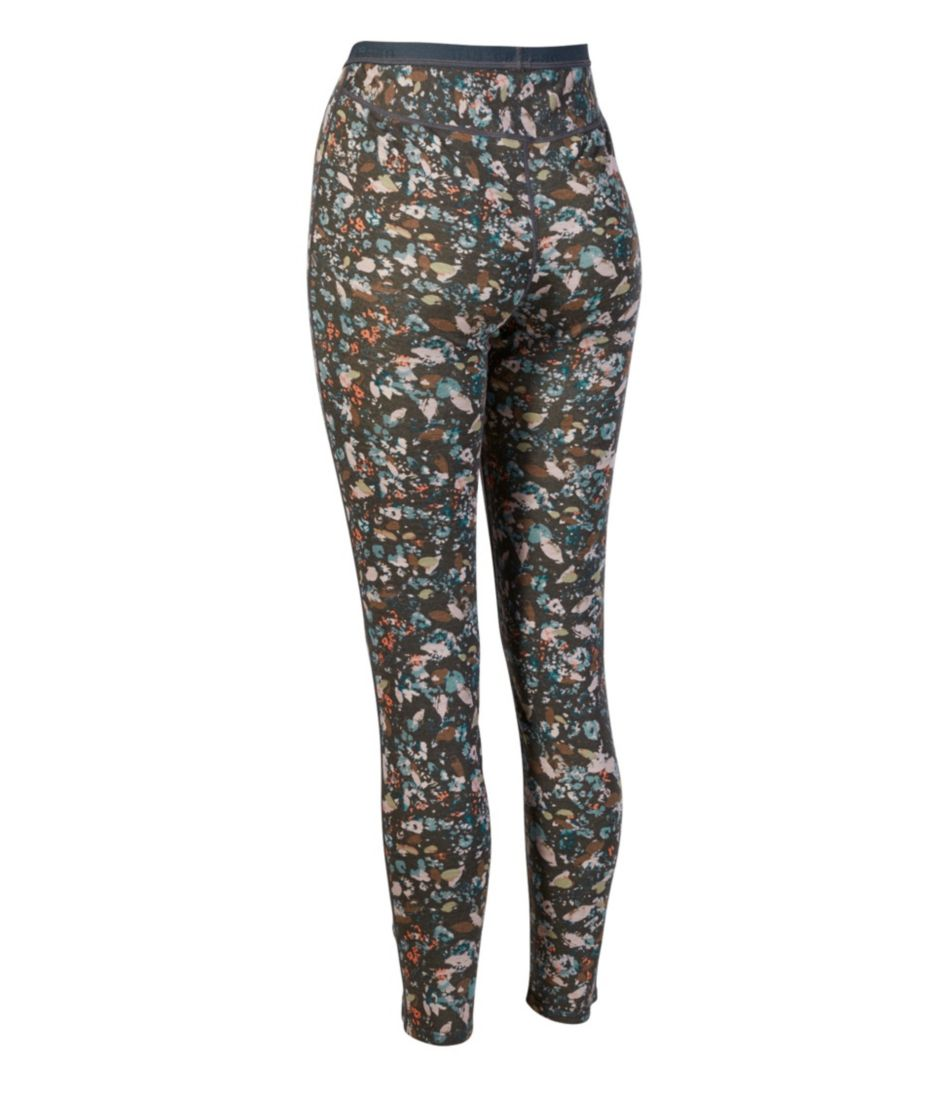 Cresta Wool Midweight Base Layer Pants, Print
