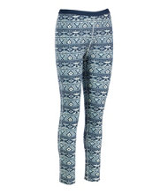 Cresta Wool Midweight Base Layer Pants, Print