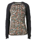Women's Cresta Wool Midweight Base Layer Crew, Print