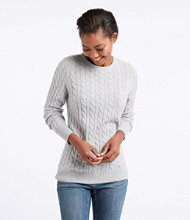Classic Cashmere Sweater, Cable Crewneck