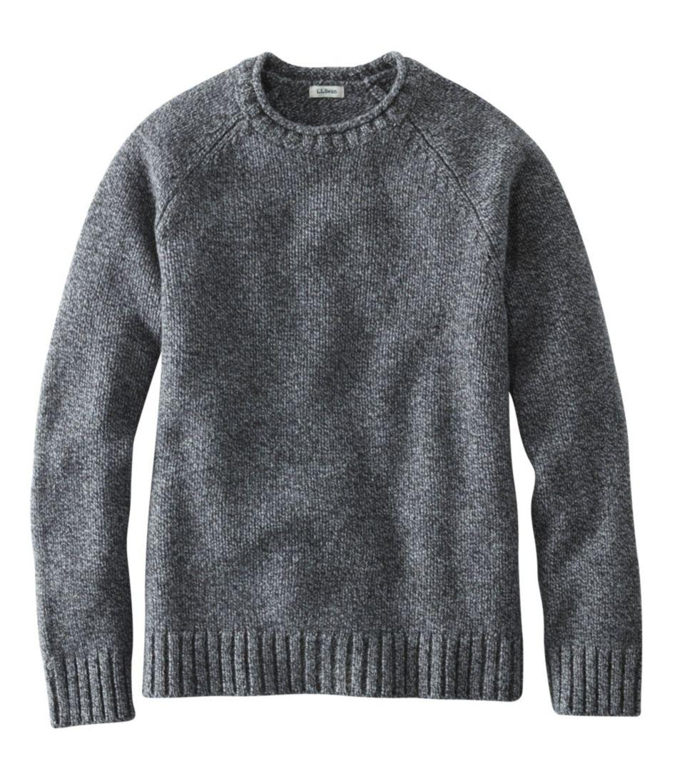 L.L.Bean Classic Ragg Wool Sweater, Crewneck Raglan Sleeve