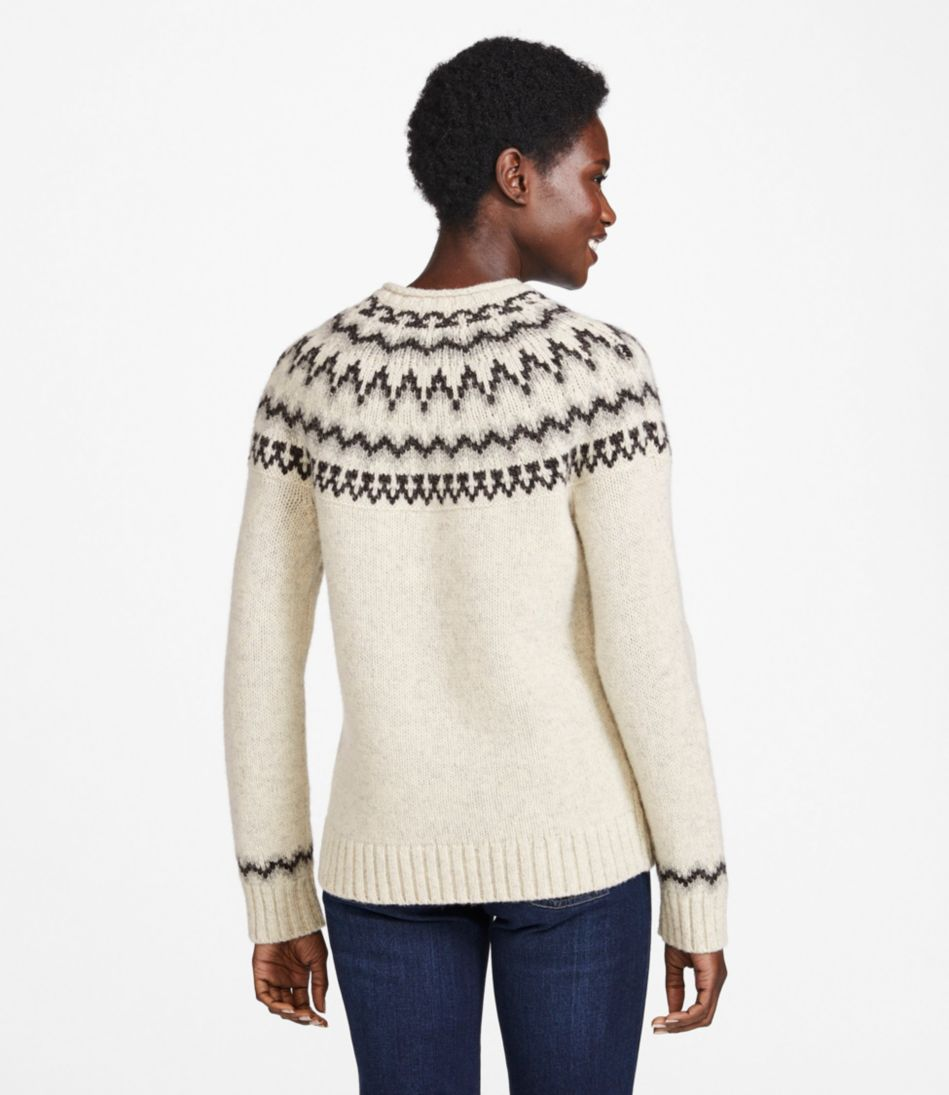 L.L.Bean Classic Ragg Wool Sweater, Fair Isle Crewneck