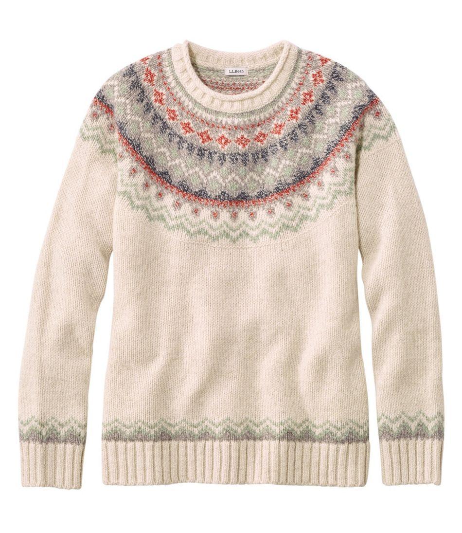 Women's L.L.Bean Classic Ragg Wool Sweater, Fair Isle Crewneck