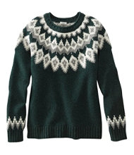 Women's L.L.Bean Classic Ragg Wool Sweater, Fair Isle Crewneck