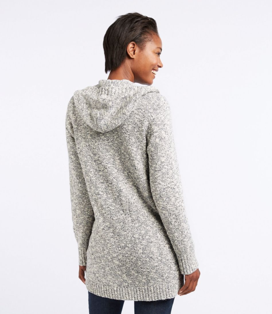 Cotton Ragg Sweater, Button-Front Hoodie