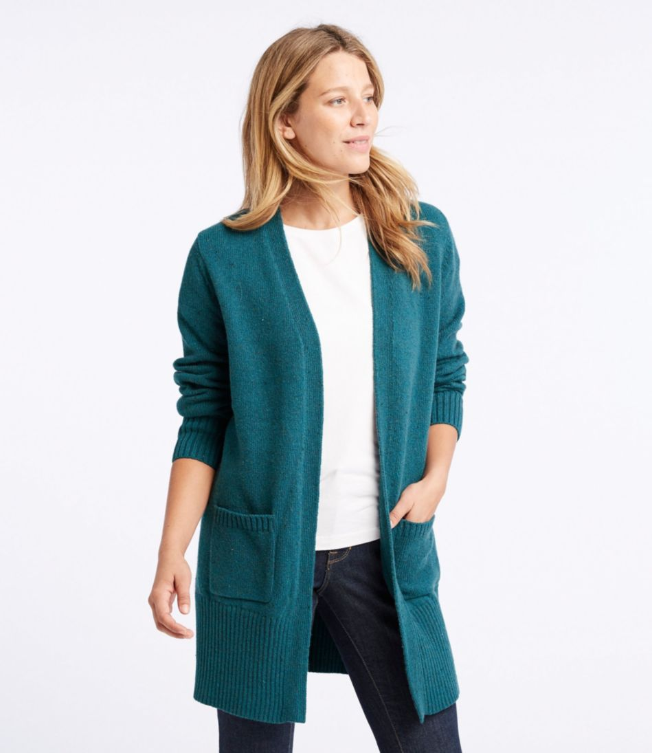 Donegal Sweater, Long Open Cardigan