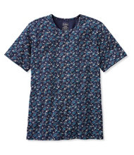 Pima Cotton Tee, Short-Sleeve Crewneck Floral