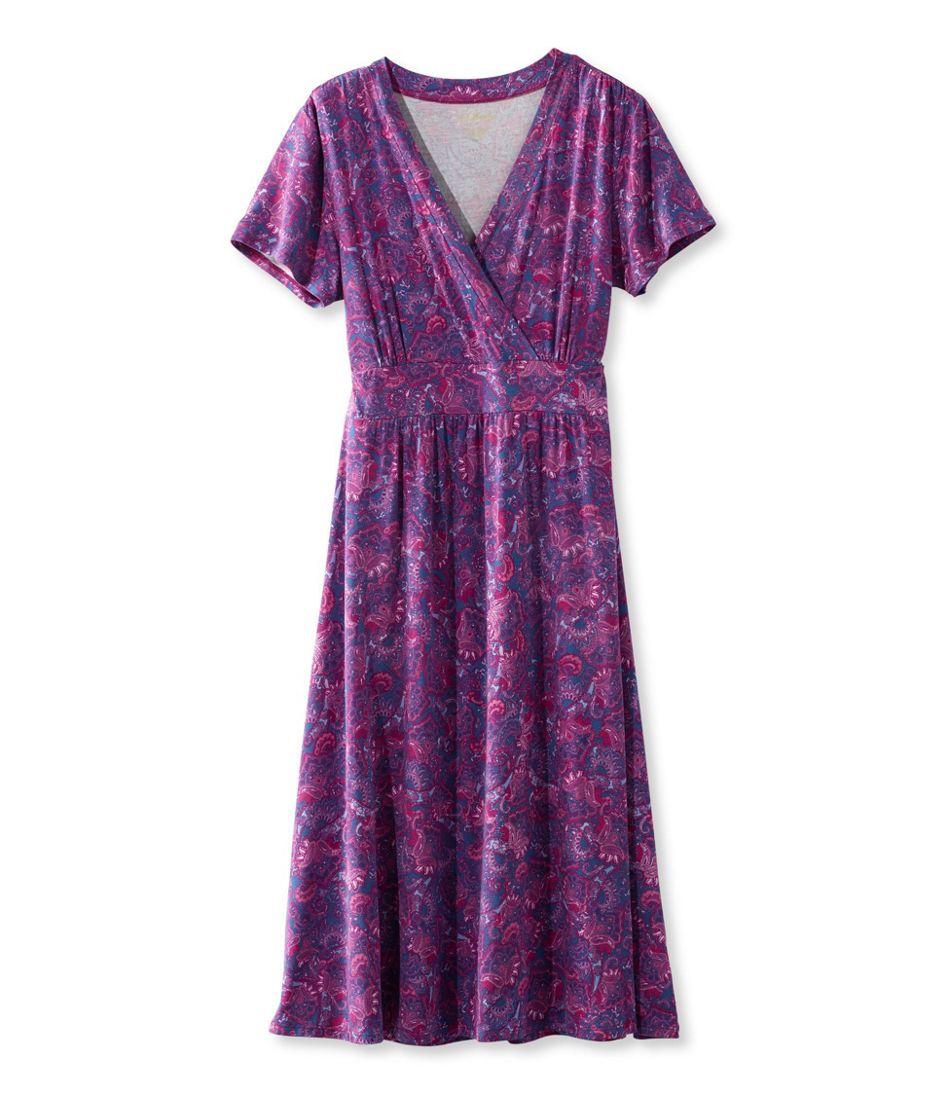 Paisley Dress Summer Sleeve Short Knit qawwS4I
