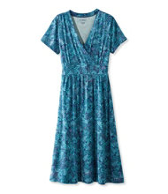 Summer Knit Dress, Short-Sleeve Paisley