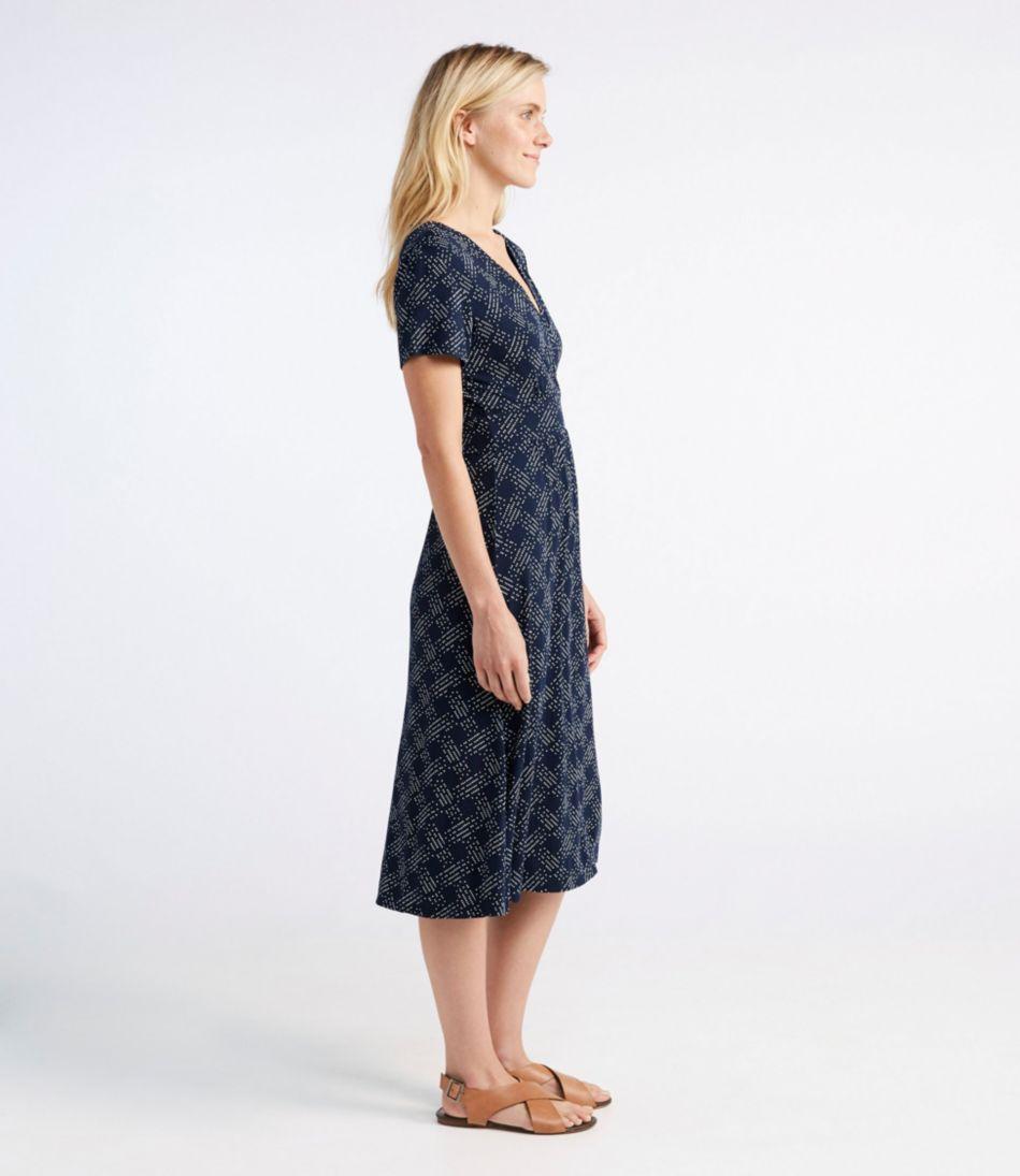 Summer Knit Dress, Short-Sleeve Dot
