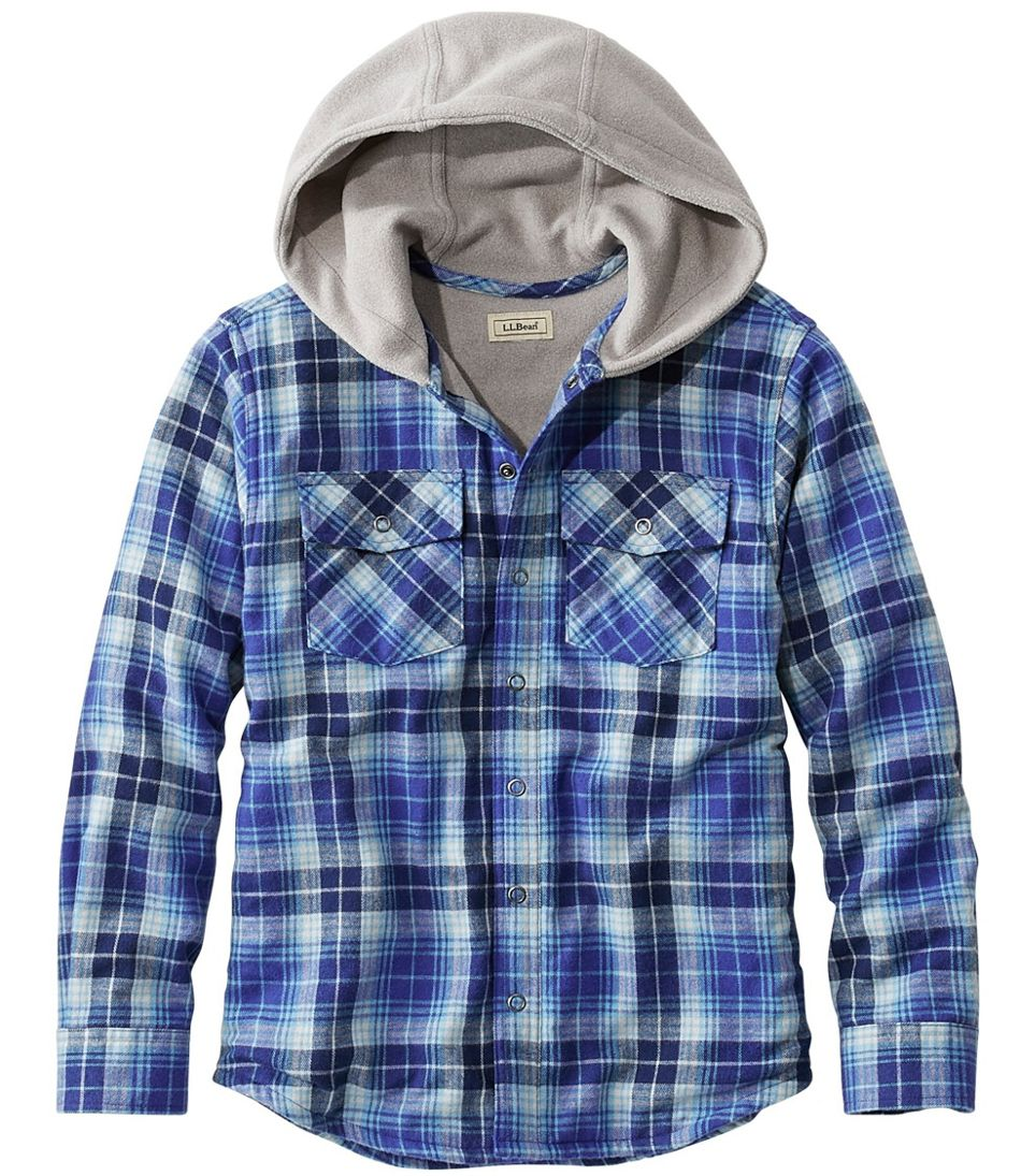 Boys Zip Front Hooded Check Cotton Shirt Checked Hoody Top 3 to 9 Years