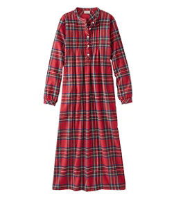 Women's Scotch Plaid Flannel Nightgown