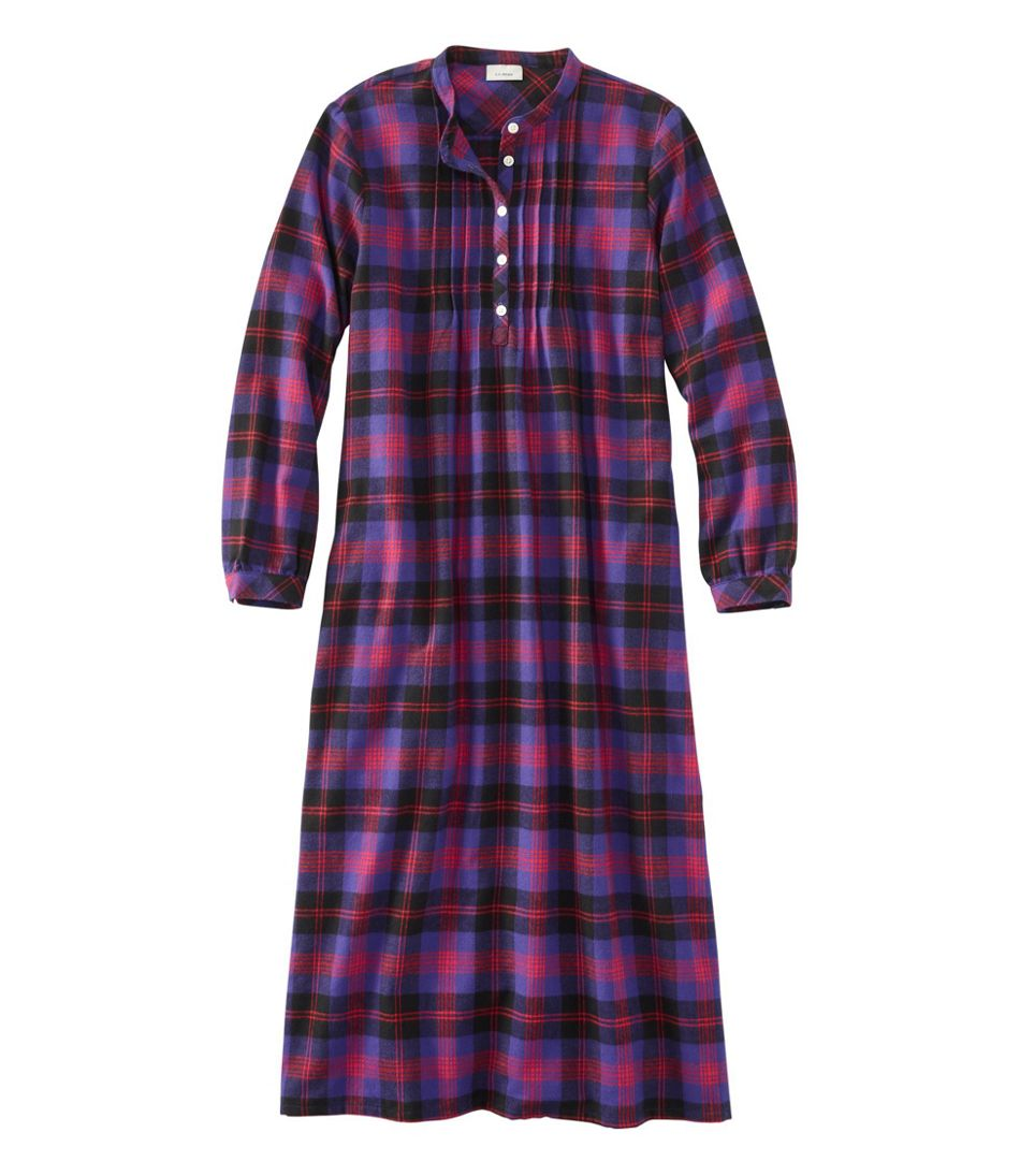 Women's Scotch Plaid Flannel Nightgown