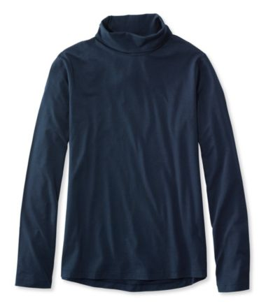 Super-Soft Shrink-Free Tee, Long-Sleeve Scrunchneck