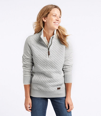 Women's Quilted Quarter-Zip Pullover : quilted sweaters - Adamdwight.com