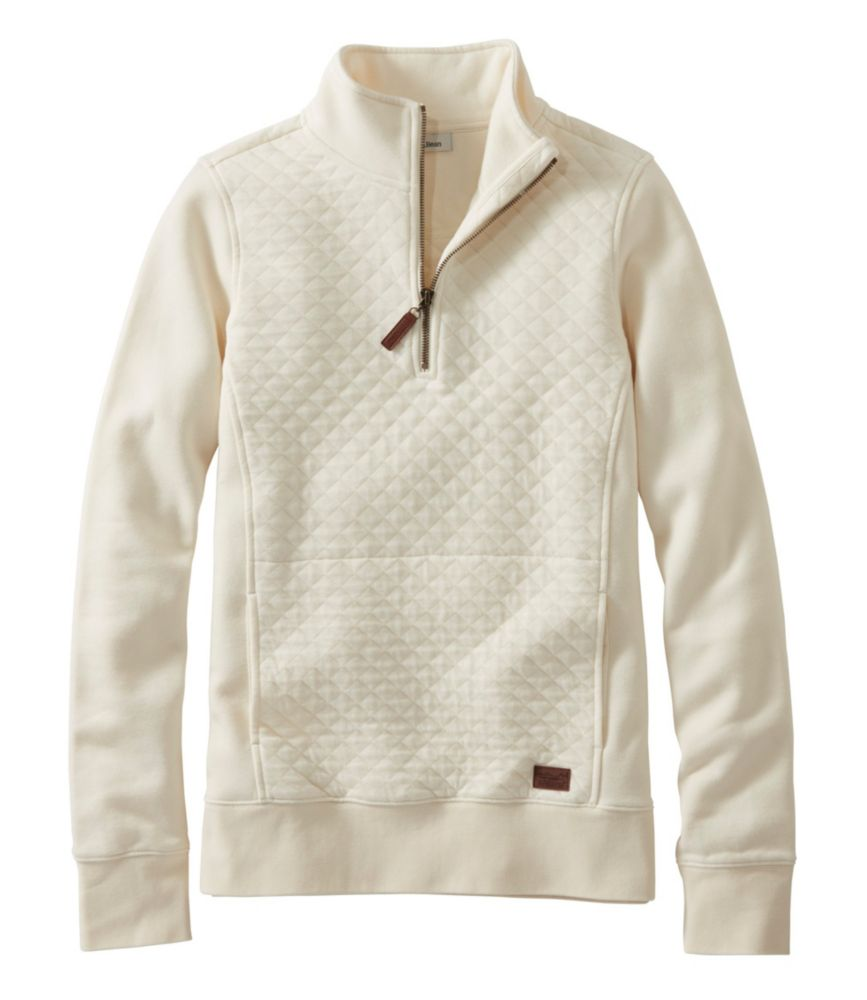 Women's Quilted Sweatshirt, Quarter-Zip