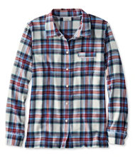 Women's L.L.Bean Flannel Pajama Top, Plaid
