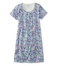 Supima Nightgown, Short-Sleeve Paisley