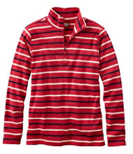 French Sailor's Pullover, Long-Sleeve Quarter-Zip Multistripe