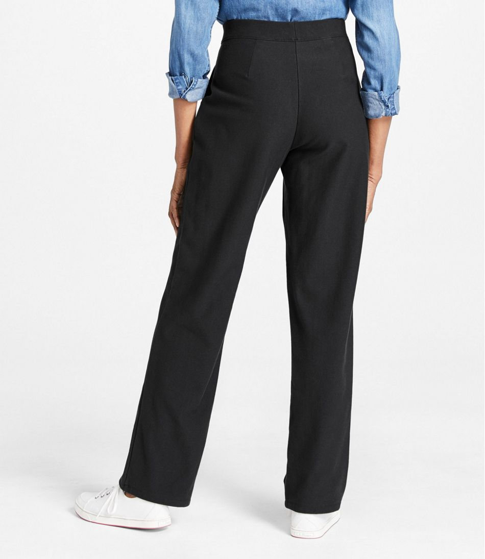 Perfect Fit Pants, Fleece-Backed Straight-Leg