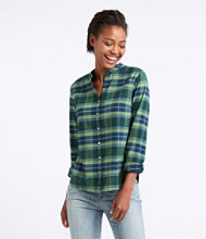 Splitneck Flannel Shirt, Plaid
