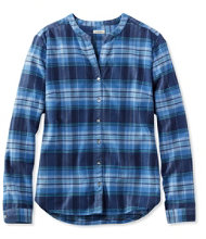 Women's Splitneck Flannel Shirt, Plaid