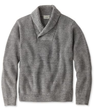 Blue Jean Sweater, Shawl Collar