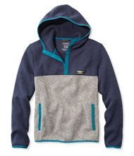 Men's L.L.Bean Sweater Fleece Hooded Pullover, Colorblock