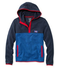 Bean's Sweater Fleece Hooded Pullover, Color Block, Men's
