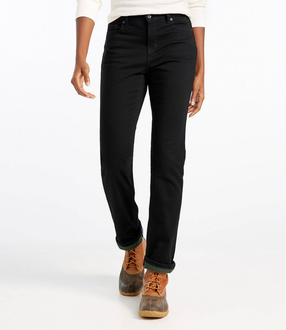True Shape Jeans, Classic Fit Straight-Leg Fleece-Lined