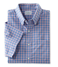 Wrinkle-Free Kennebunk Sport Shirt, Traditional Fit Short-Sleeve Check