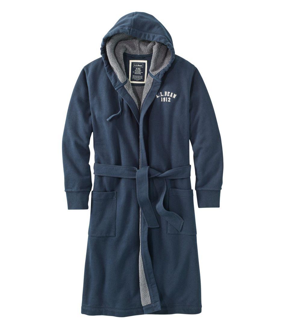 Men's Rugby Robe, Fleece-Lined, Hooded