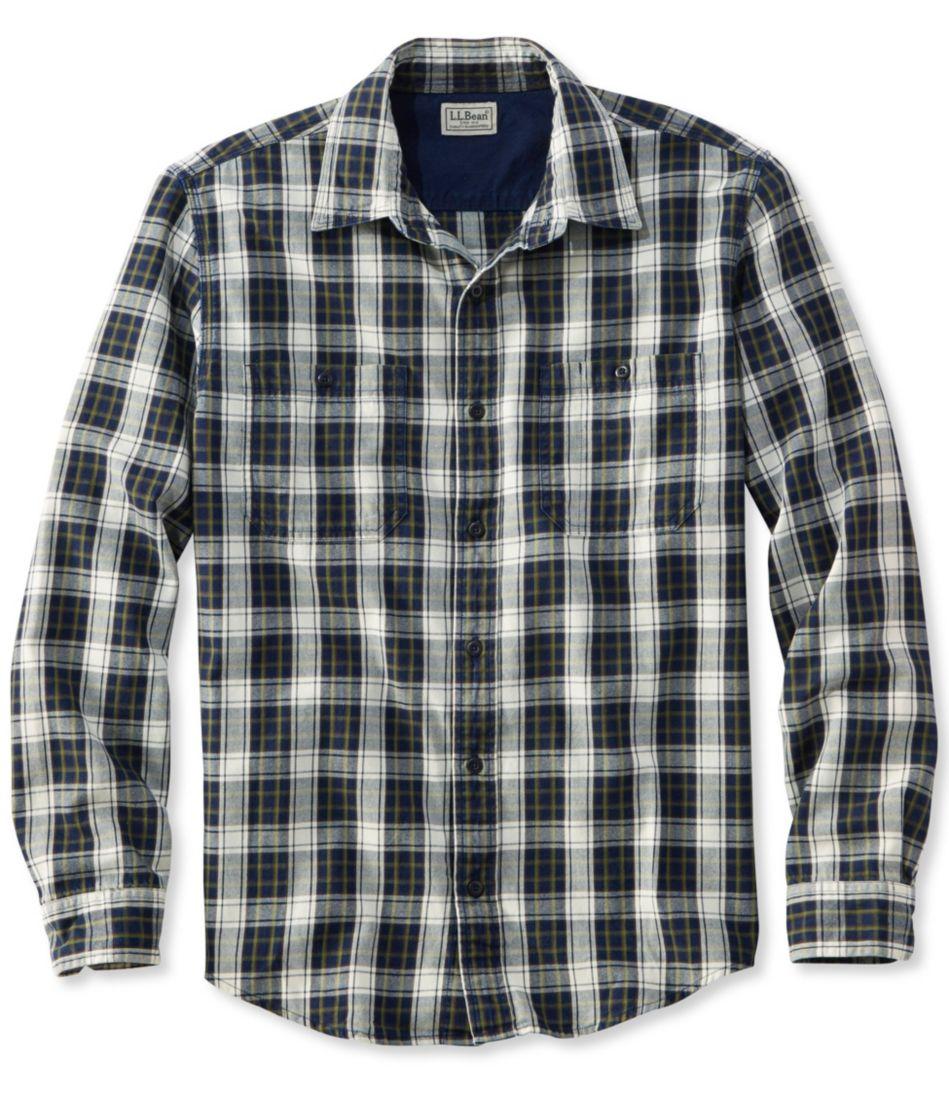 Indigo Denim Shirt, Slightly Fitted Plaid