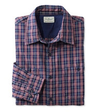 Men's Indigo Denim Shirt, Slightly Fitted Plaid