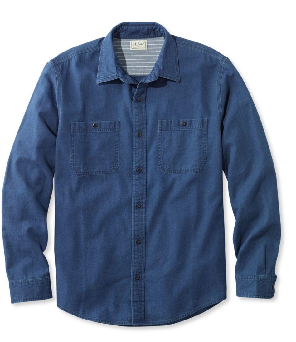 Indigo Denim Shirt, Slightly Fitted