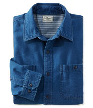 Indigo Denim Shirt, Slightly Fitted